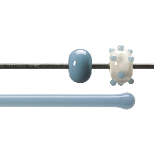 Bullseye Stange - Powder Blue - 4-6mm - Opaleszent