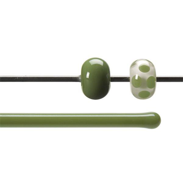 Bullseye Stange - Olive Green - 4-6mm - Opaleszent