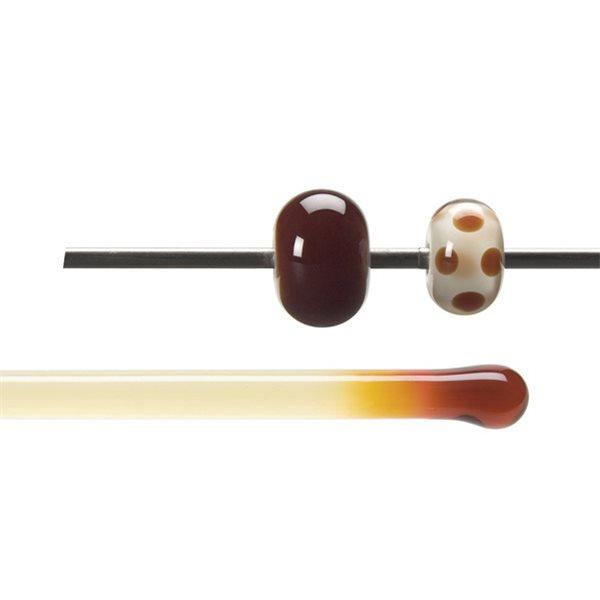 Bullseye Stange - Garnet Red - 4-6mm - Transparent