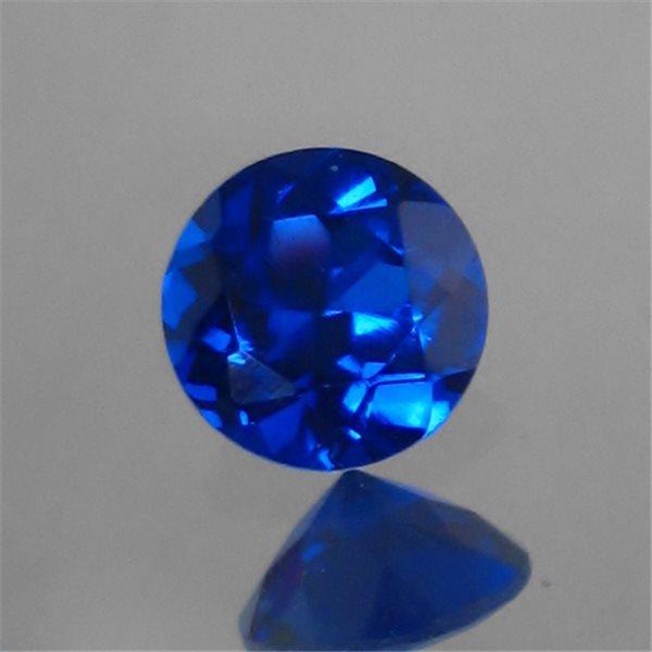 Lab Spinel - Sapphire - Round - 10mm - 1pc