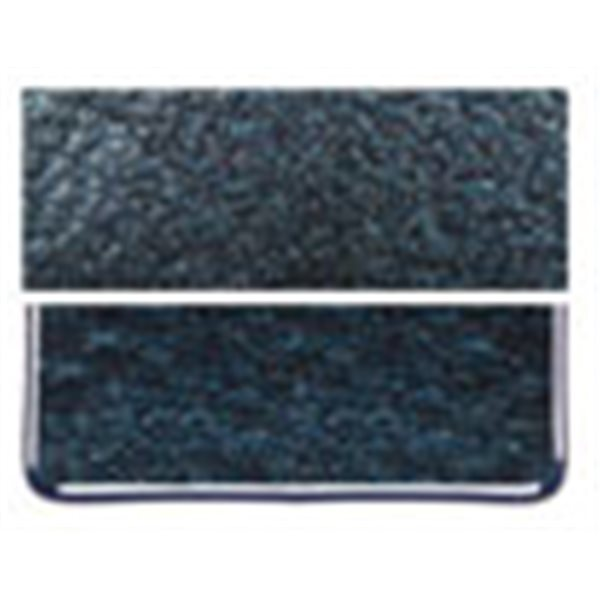 Bullseye Aventurine Blue - Transparent - 3mm - Fusible Glass Sheets