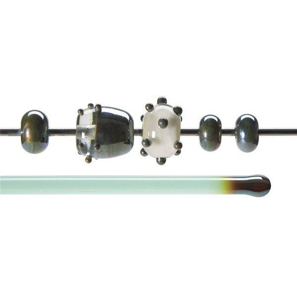 Bullseye Stange - Copper Green Lustre - 4-6mm - Transparent