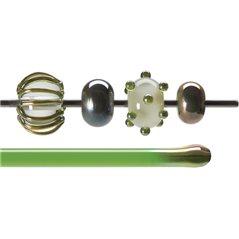 Bullseye Rods - Green Lustre - 4-6mm - Transparent