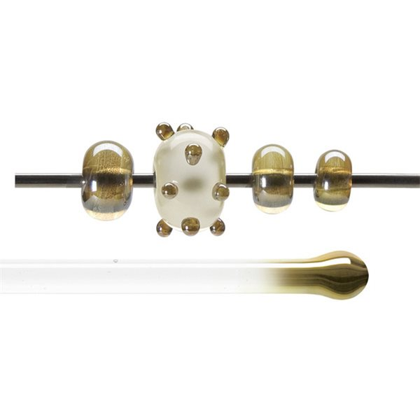 Bullseye Rods - Amber Lustre - 4-6mm - Transparent