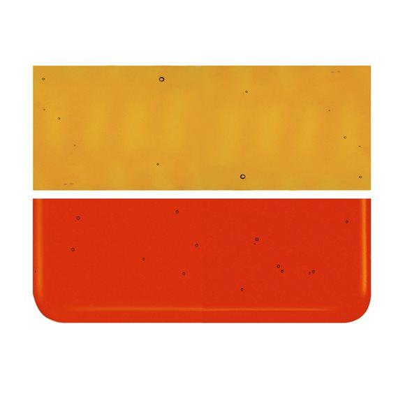 Bullseye Red Orange - Transparent - 3mm - Fusing Glas Tafeln