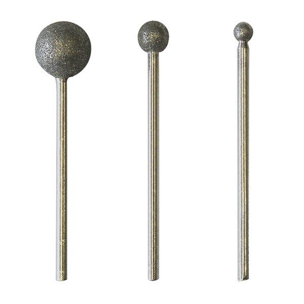 Diamant Kugel-Fräs-Kopf Set - 3 Stück