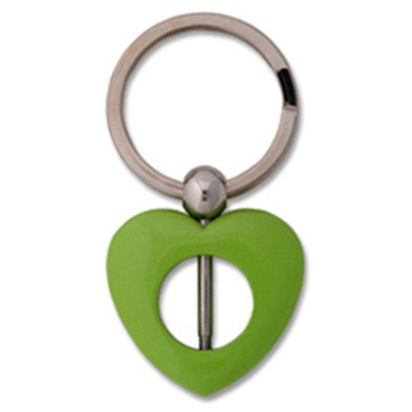 Keychain Bead - Heart - Green
