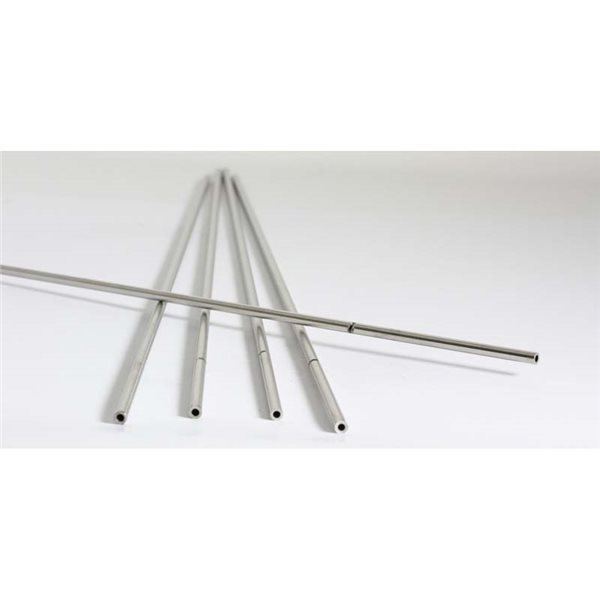 Chrome Steel Blow Pipe - 4mm - 5pcs