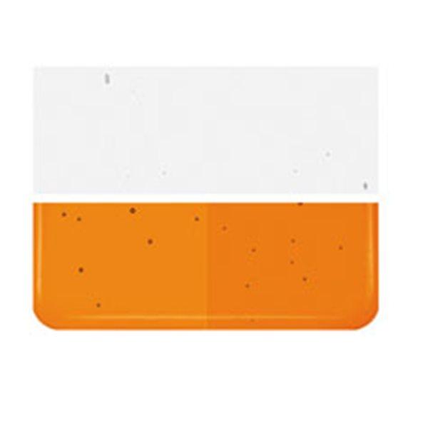 Bullseye Light Orange Striker - Transparent - 2mm - Thin Rolled - Fusible Glass Sheets