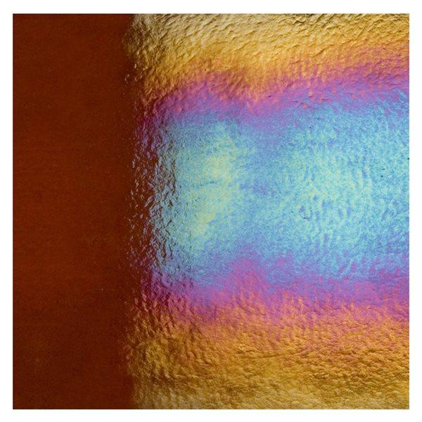 Bullseye Sienna - Transparent - Rainbow Iridescent - 3mm - Fusible Glass Sheets
