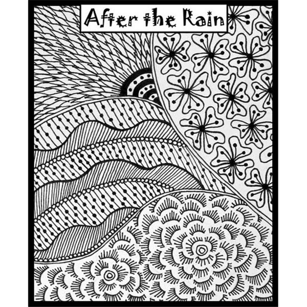 Rubber Stamp Mat - After the Rain - 10x12.5cm