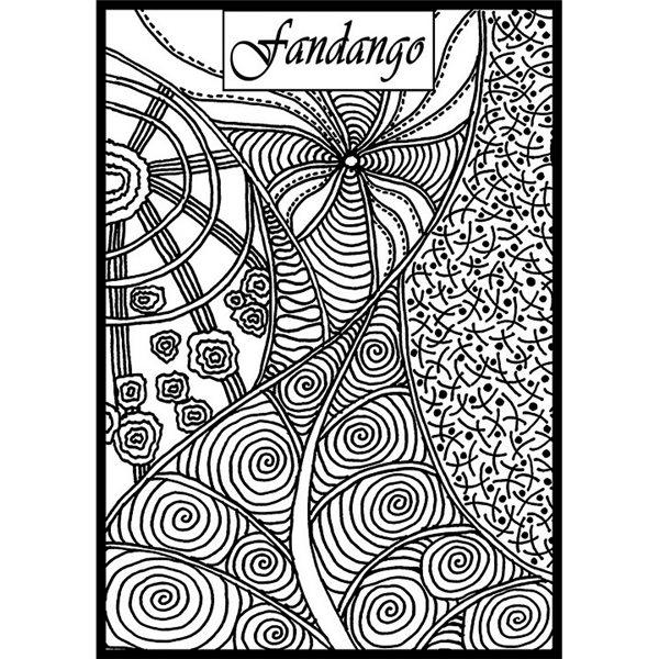 Rubber Stamp Mat - Fandango - 10x12.5cm