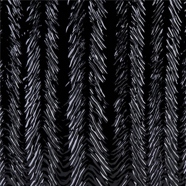 Bullseye Black - Opalescent - Herringbone Ripple Irid - 3mm - Fusible Glass Sheets