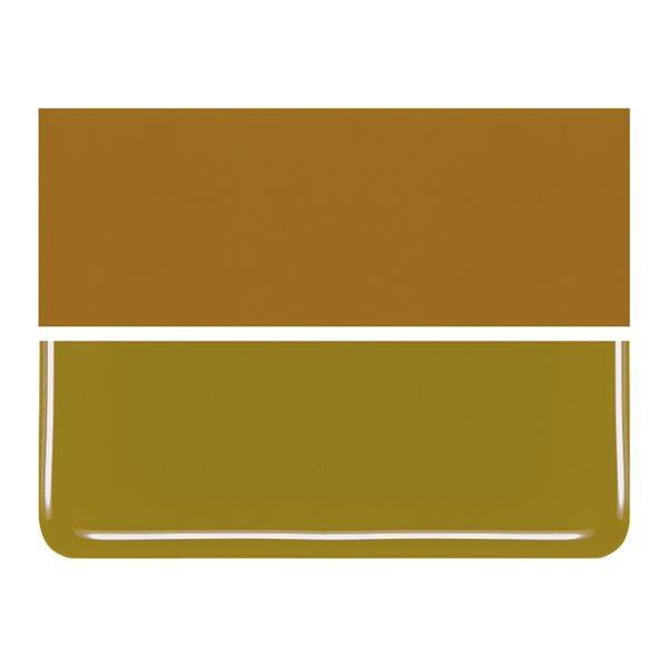 Bullseye Golden Green - Opalescent - 2mm - Thin Rolled - Fusible Glass Sheets