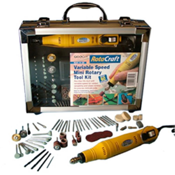 RotaCraft RC18 - Rotary Tool Kit - 12V - Variable Speed