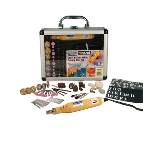 RotaCraft RC200 - Slimline Engraving & Rotary Power Tool Kit - 230V - Variable Speed