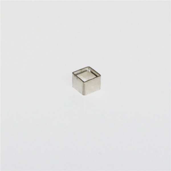 Tubular Bezel - Sterling 925 - Square - 4x4mm