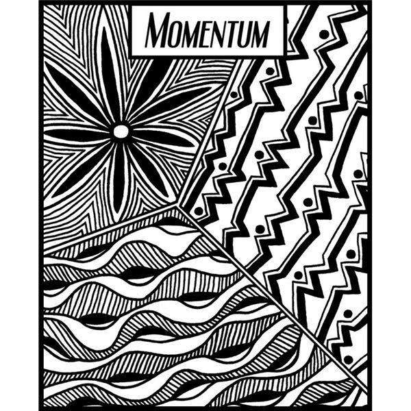Rubber Stamp Mat - Momentum - 10x12.5cm