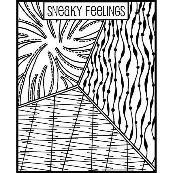 Rubber Stamp Mat - Sneaky Feelings - 10x12.5cm