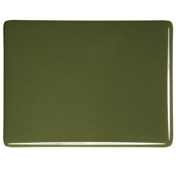 Bullseye Moss Green - Opalescent - 3mm - Fusible Glass Sheets