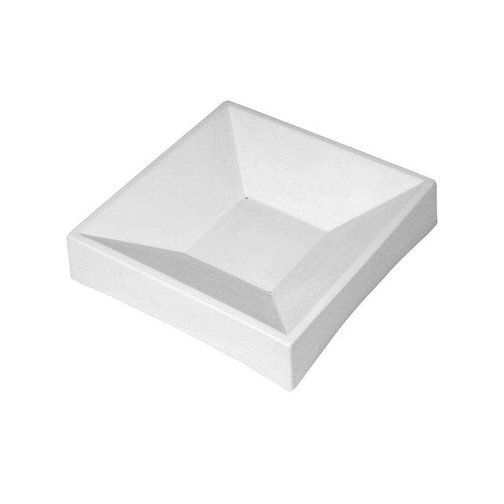 Party Bowl Square - 17.5x17.4x3.9cm - Base: 6.8x6.8cm - Fusing Mould