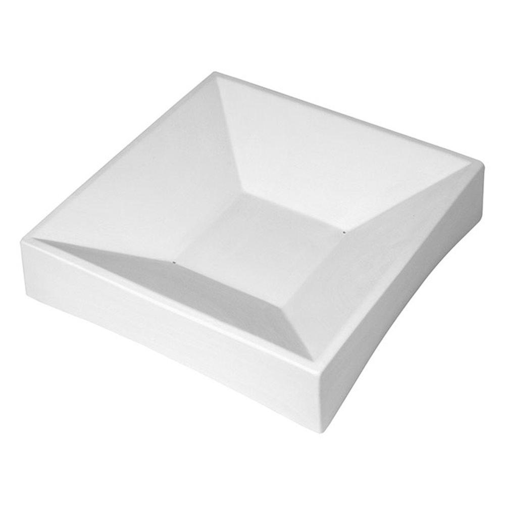 Party Bowl Square - 22.3x22.2x5cm - Base: 8.3cm - Fusing Mould