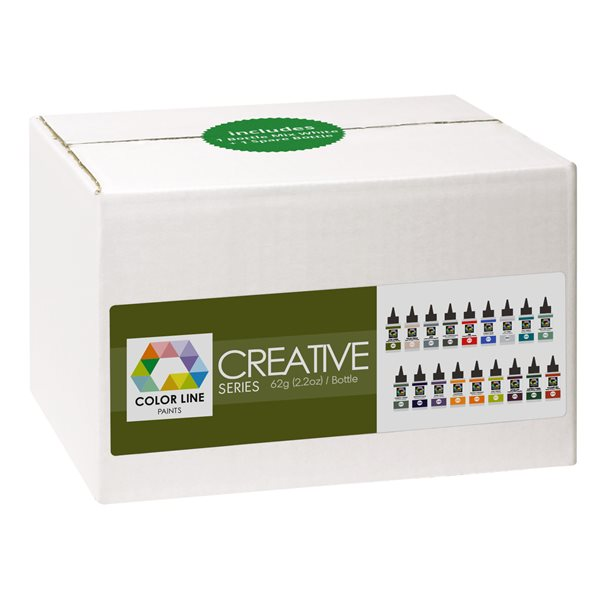 Colorl Line Pen Set - Creative Series - 62g each - incl. 1 Mix White + 1 Empty Bottle