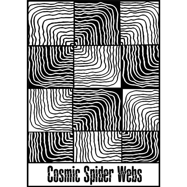 Rubber Stamp Mat - Cosmic Spider Web - 10x12.5cm