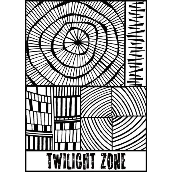 Rubber Stamp Mat - Twilight Zone - 10x12.5cm