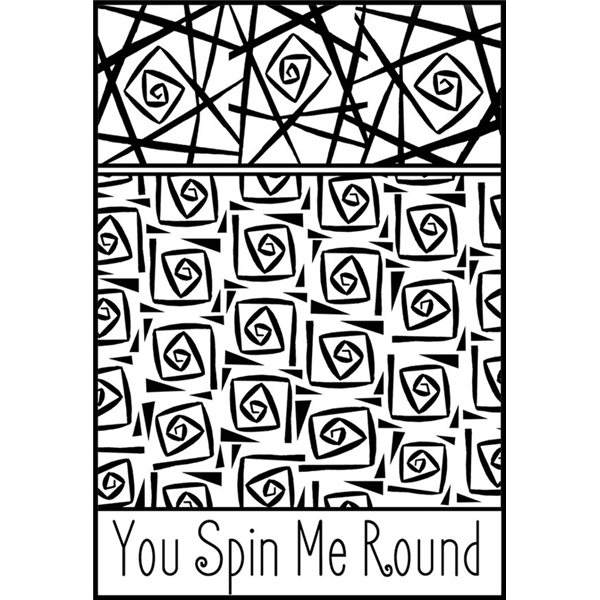 Rubber Stamp Mat - You spin me round - 10x12.5cm