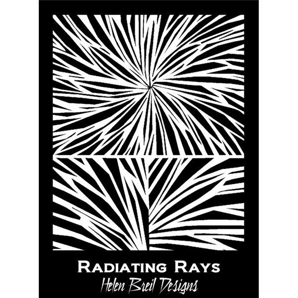 Rubber Stamp Mat - Radiating Rays - 10x12.5cm