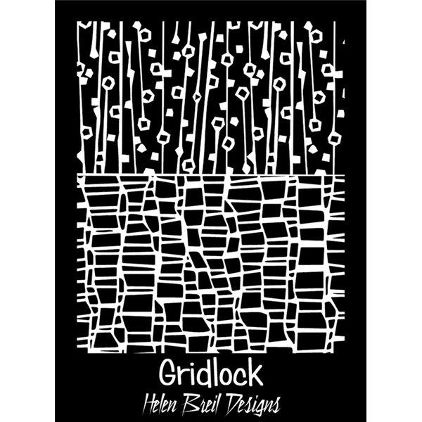 Rubber Stamp Mat - Gridlock - 10x12.5cm
