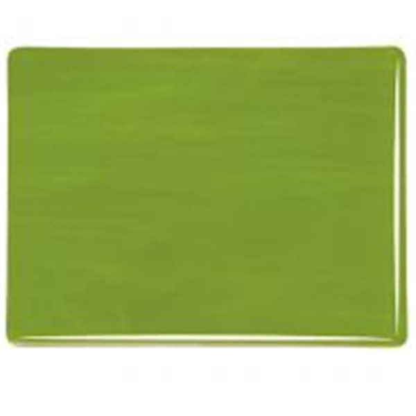 Bullseye Avocado Green - Opalescent - 3mm - Fusible Glass Sheets