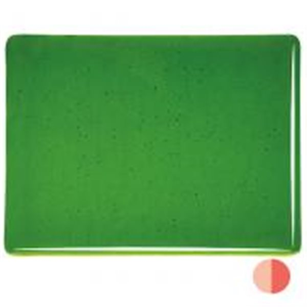 Bullseye Ginko Green - Transparent - 3mm - Fusible Glass Sheets