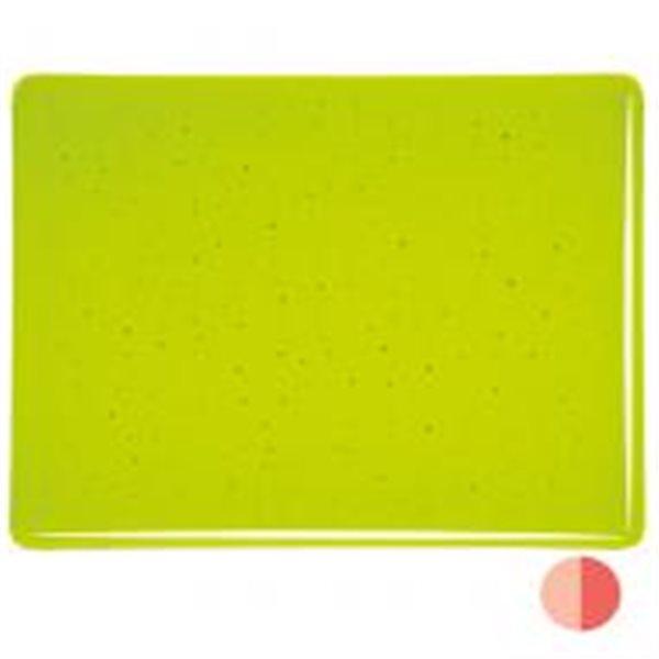 Bullseye Lemon Lime - Transparent - 3mm - Fusible Glass Sheets
