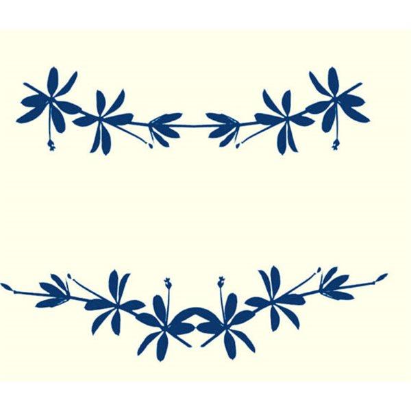 Texture Card - Leaf Silhouette - 10x12.5cm