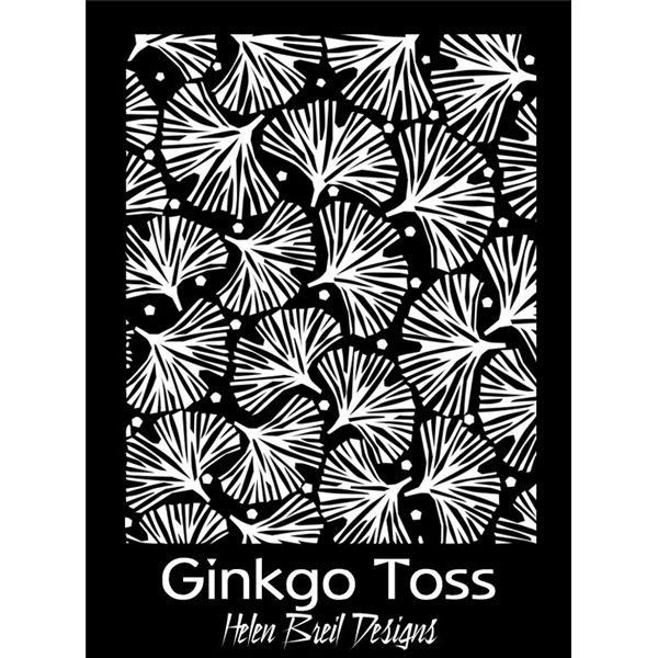 Rubber Stamp Mat - Gingko Toss - 10x12.5cm