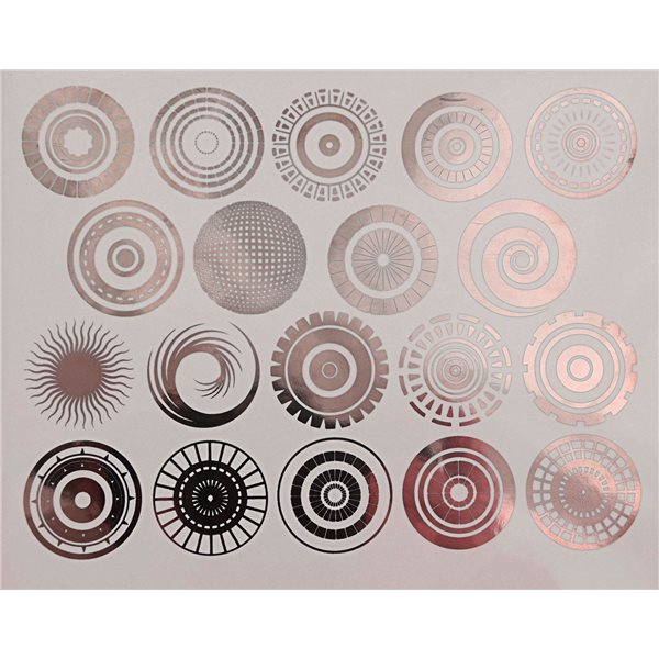 Decal - Circles - Copper - 14x10 cm