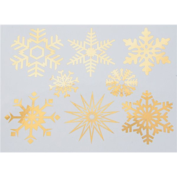 Decal - Large Snowflakes - Gold - 14x10 cm