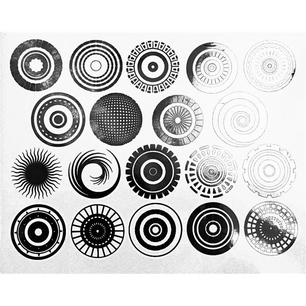 Decal - Circles - Black - 14x10 cm