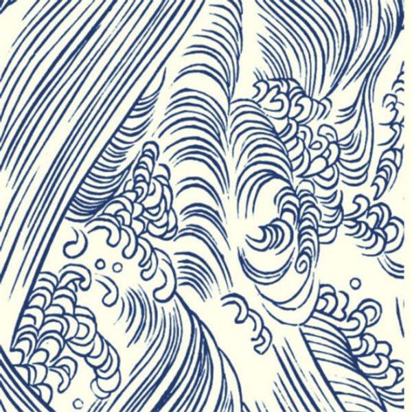 Texture Card - Ocean Waves - 5x8.5cm