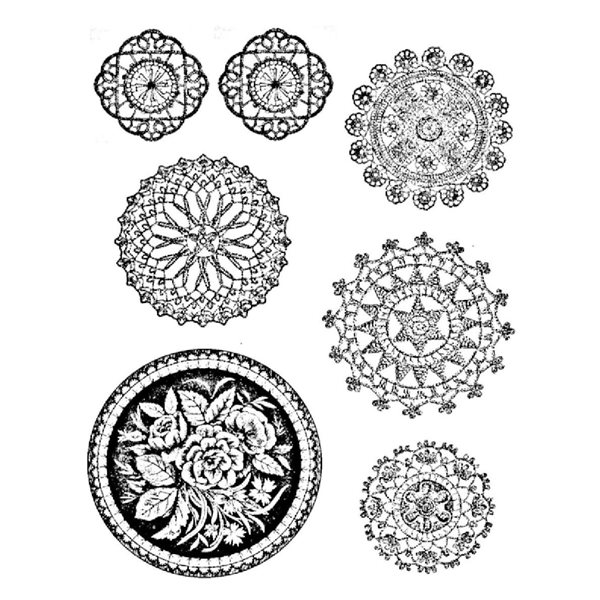 Texture Card - Round Lace Collection - 7.5x10cm