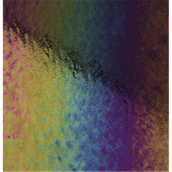 Bullseye Black - Opaleszent - Rainbow Irid - 3mm - Non-Fusible Glas Tafeln