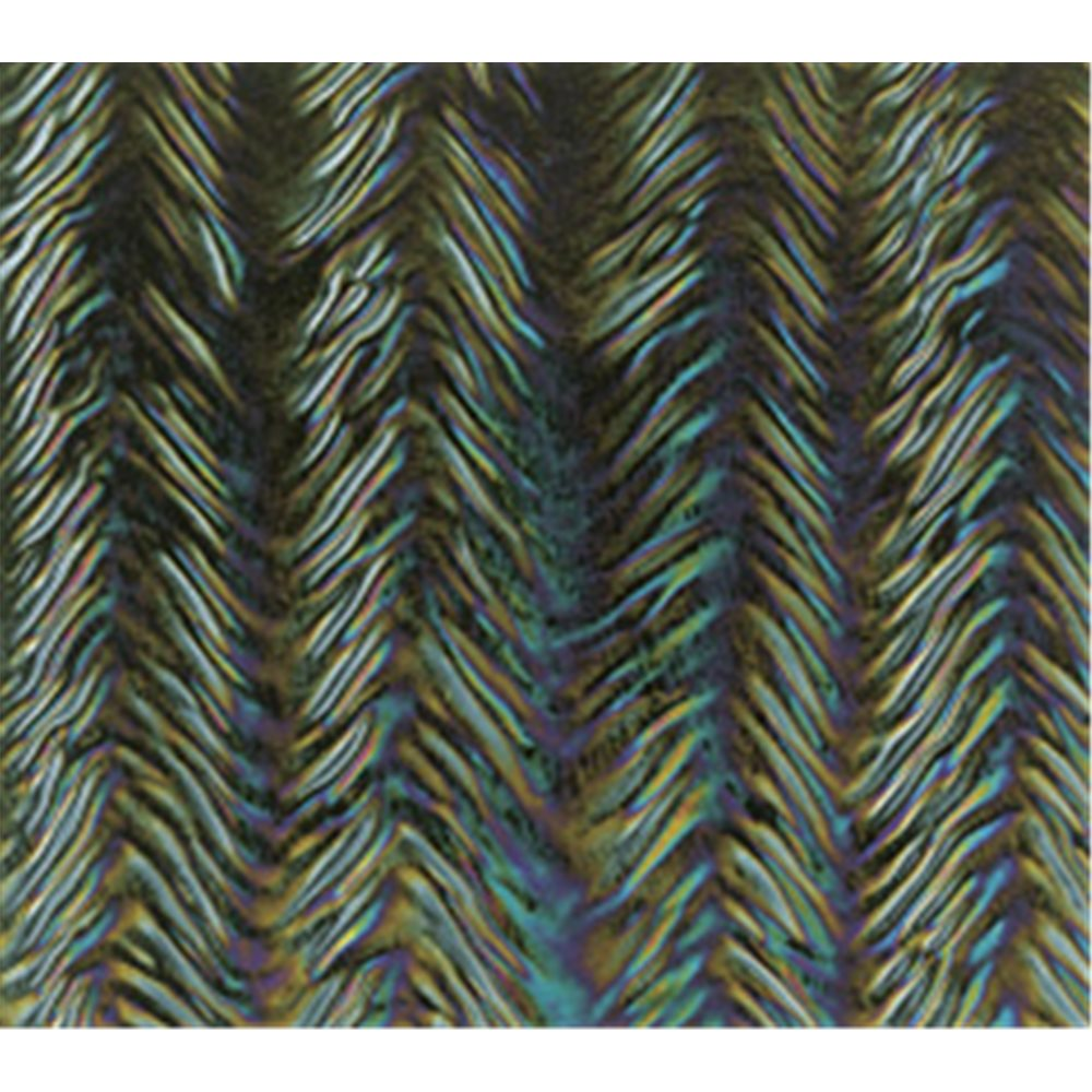 Bullseye Black - Opalescent - Herringbone Ripple Iridescent - 3mm - Fusible Glass Sheets