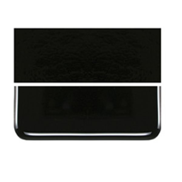 Bullseye Black - Opalescent - 2mm - Thin Rolled - Plaque Fusing
