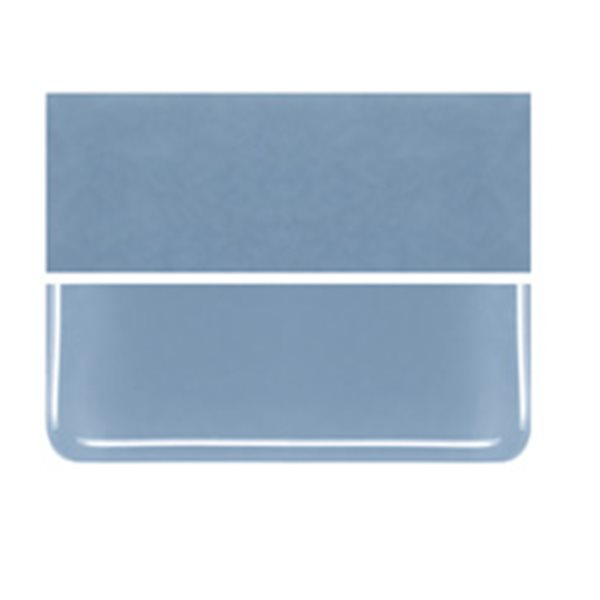 Bullseye Powder Blue - Opalescent - 3mm - Fusible Glass Sheets