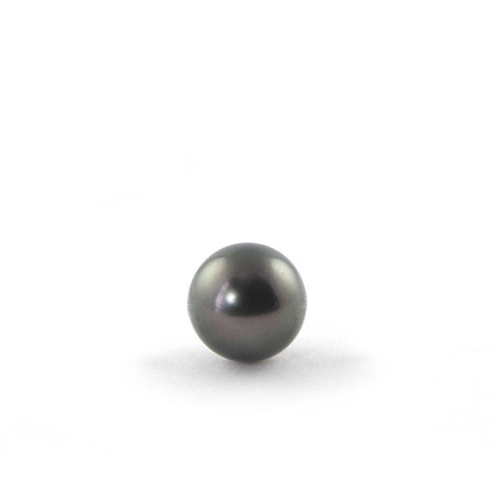 Tahiti Pearl - 7mm - Half-Drilled 0.8mm