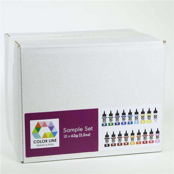 Color Line Pen Set - 18 Originals - 62g each - incl. 1 Tip Sets + 1 Empty Bottle