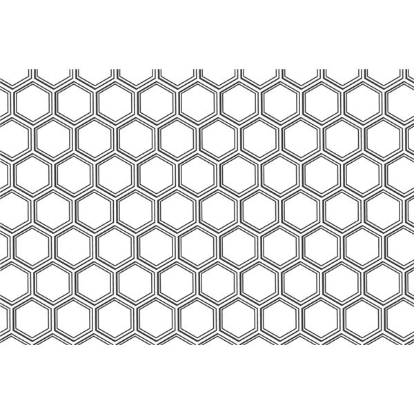 Decal - Honeycomb Pattern - Gold, 28x10 cm