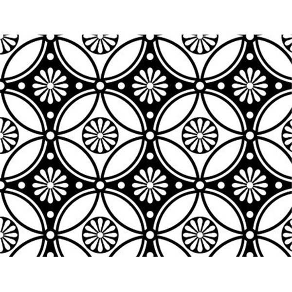 Decal - Repeating Flower Pattern - Gold - 14x10 cm